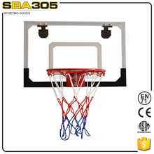 Plastic kids basketball backboard with mini hoop