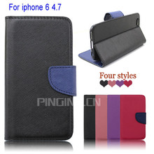 For iPhone 6 Cover Case New Leather, For Iphone 6 Magnetic Flip Case