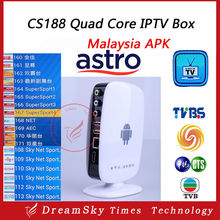 CS188 Quad Core Malaysia Android 4.4 TV Box 1G/8G With 1 Year Astro Malaysia APK IPTV Service for Chinese Malaysia Singapore