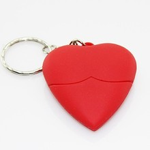 Electronic promotional gifts Heart shape pen drive key chains usb memory
