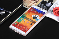 Straight edge metal frame without volume button and single color lock screw metal case for samsung galaxy note 3