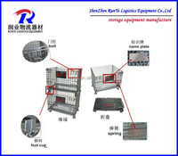 HOT sale steel cage folding and stackable storage cage