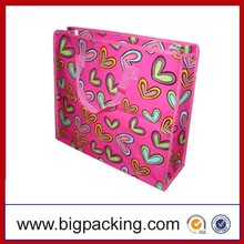 Eco High Quality OEM PP Woven Material Pink PP Woven Shopping & Packaging Bag PP Woven Shopping Bag Promotional Bag