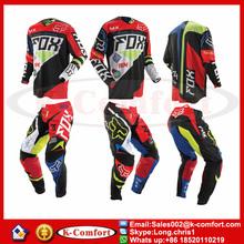KCM1702 Jersey+pants Race Motocross Suit motorcycle jersey moto clothing set FOX Racing Cross country Tshirt pants