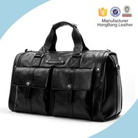 Fully real leather duffel holdall bag in stock for gym hiking camping trendy mens travel bag