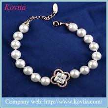Artificial pearl bracelet design, fashion chucky pearl bracelet, fake pearl bracelets wholesale