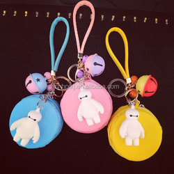 Fashional Girl Cute Silicone Coin Pouch Wallet Candy Macaron Purse with Key chain