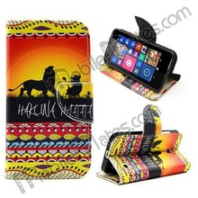 for Nokia Lumia 630 Flip Cover, Tribal Leather Case for Nokia Lumia 630, for Nokia 630 Phone Cases Cover