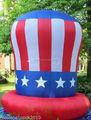 6 FT AirBlown inflable patriótica tío SAMS sombrero cuarto de julio, MEMORIAL DAY patio