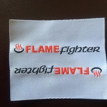 fire retardant woven label for fire retardant trousers