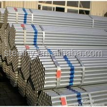 Galvanized ERW black round steel pipe / tubes