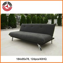 Sofa bed/American style living room click clack Fabric folding sofa bed with metal legs