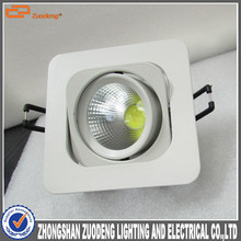 high power 7w led downlight COB 60degree beam angle and 92mm cut hole