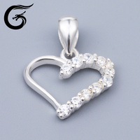 silver plated jewelry silver jewelry manufacturer pendant heart