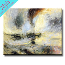 Handmade modern abstract landscape art painting on canvas