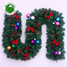 Christmas PVC Decorated artificial Garland Wreath Rattans