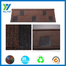 Sand coated aluminium zinc thermal insulation flat roof tile
