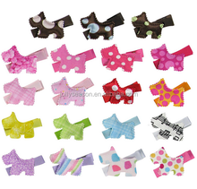 New Fashion Cute Horse Fabric Button Baby Girl Alligator Hair Snap Hair Clip