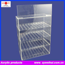 Transparent Acrylic E Cig Liquid Display Case With Sliding Drawer and Brand
