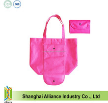 China Factory Cheap Price PP Non Woven Folding Shopping Tote Bag With Button