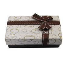 good design heart prining lid and black base value and treasure gift paper packaging boxes