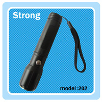 Emergency CE, RoHS protective glass LED police security flashlight