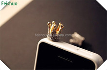 Designer Crazy Selling anti dust plug cap for iphone 4 4s