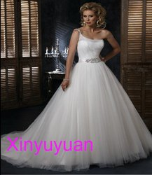 Famouse designer tulle and satin wholesale ball gown bridal clothes high quality best price wd127