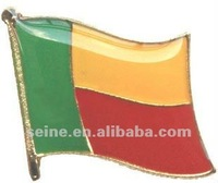16mm Benin flag lapel pin for suit decoration gifts