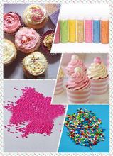 Colorful Edible Cake Decorating Supplies Sugar Pearls Sprinkle