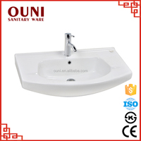 ON-186(1530) New style top counter easy clean ceramic toilet hand basin