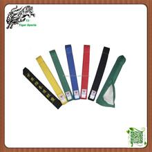 high quality Martial arts taekwondo equipment taekwondo belt colors for sale