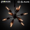 moderno lustre de hierro forjado vela lámpara de araña