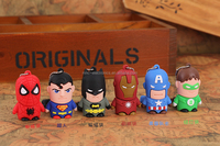 Superhero cartoon character usb flash drive, flash drive usb, cute cartoon 8gb usb flash drive bulk 4g 8g 16g 32g 64g