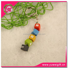 2015 new arrived promotional gift keychain/Cube shaped keychain