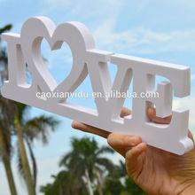 Decoracion de la boda blanca cartas de amor three - dimensional carta boda props