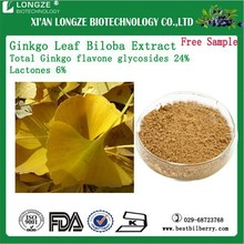 Natural Ginkgo Biloba Extract/ Ginkgo Dry Extract Ginkgoflavon Glycosides24%, Terpene Lacosides6%