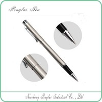 High quality silver metal ball pen roller pen wholesale alibaba min order 10 pcs