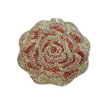 Stylish rose flower design evening lutch handbags wedding bags