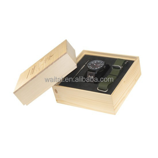 Wooden Watch Display Box Wooden Single Watch Box
