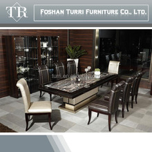 2014 italiy design new classic luxury marble top dining table