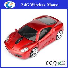 2.4G 1600DPI 3D Car Shape Wireless Optical Mouse USB Receiver For Laptop PC