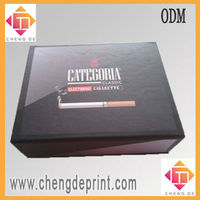 Magnet holding paper printed cigarette packing box