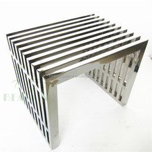 urban outdoor stainless steel bench