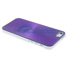 Hot Selling Purple Waterproof Aluminum CD Texture Case For iPhone 5 5S 5G