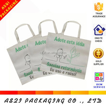 custom cheap reusable silkscreen printing non woven promotional bag with logo