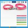 custom print logo nylon dog collars and leashes in one