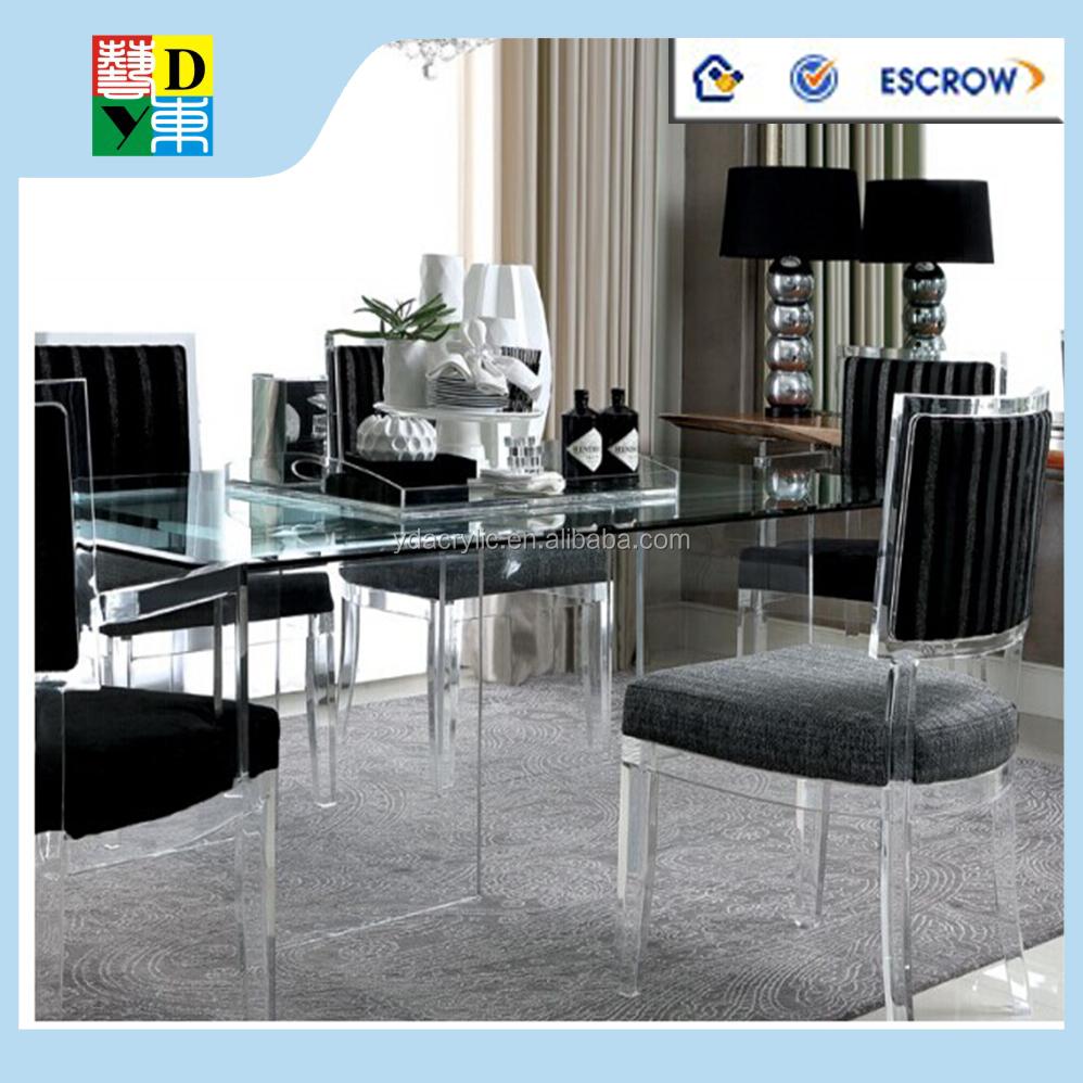 Merveilleux Amaizing Personnalisé Acrylique Set De Table Avec 4 Chaises Acrylique  Transparent Table De Salle à Manger