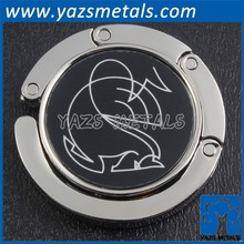 hot sales custom logo zinc alloy bag hanger