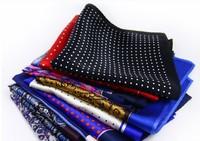 Men's soft Suit Pocket Square Silk Handkerchief custom printed